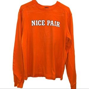Abercrombie & Fitch Orange Long Sleeve Muscle Tee